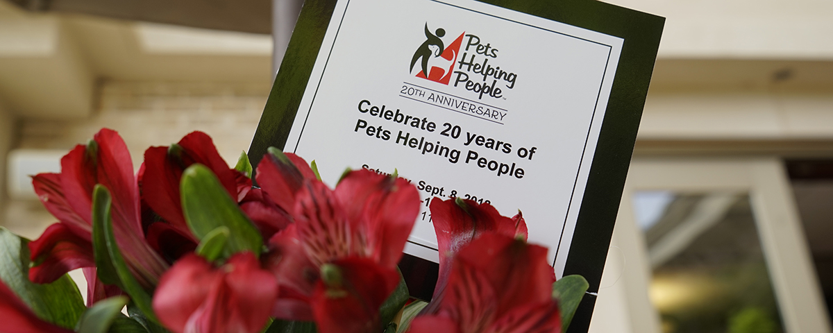 Celebrate 20 years of Pets Helping People