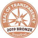 Seal of Transparency 2019 Bronze GuideStar