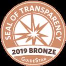 Seal of Transparency 2019 Bronze GuideStar